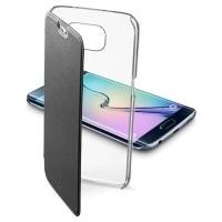 Etui Cellular Line CLEAR BOOK czarne do Samsung Galaxy S6 Edge
