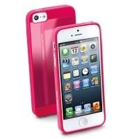 Elastyczne gumowe etui Cellular Line GUMMY SLIM do iPhone5 różowe
