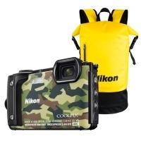 Aparat cyfrowy Nikon Coolpix W300 moro + plecak wodoodporny Nikon