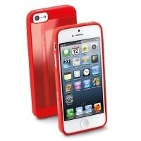 Elastyczne gumowe etui Cellular Line GUMMY SLIM do iPhone5 czerwone