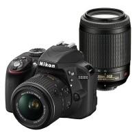 Nikon D3300 + obiektyw 18-55mm VR II + obiektyw 55-200mm VR - miniaturka produktu