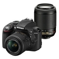 Nikon D3300 + obiektyw 18-55mm VR II + obiektyw 55-200mm VR - Cashback Nikon 200zł - miniaturka produktu