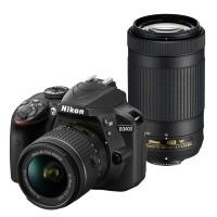 Nikon D3400 + obiektywy AF-P 18-55mm VR + AF-P 70-300mm VR