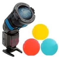 Zestaw Rogue 3-in-1 Flash Grid + 3 filtry żelowe - WYSYŁKA W 24H