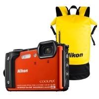Aparat cyfrowy Nikon Coolpix W300 pomarańczowy + plecak wodoodporny Nikon
