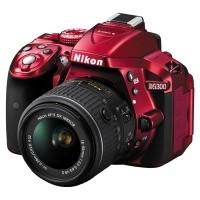 Nikon D5300 Czerwony + obiektyw Nikkor AF-S 18-55mm VR II