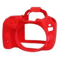 Osłona silikonowa easyCover do aparatu Canon 100D czerwona