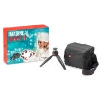 Zimowy zestaw promocyjny Manfrotto XMASKIT2 - statyw Pixi + torba NX SB IGY2 - WYSYŁKA W 24H