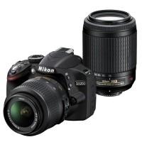 Nikon D3200 + obiektyw 18-55mm VR + obiektyw 55-200mm VR - miniaturka produktu