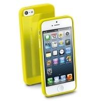 Elastyczne gumowe etui Cellular Line GUMMY SLIM do iPhone5 żółte