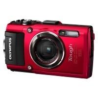 Aparat cyfrowy Olympus TG-4 Czerwony + pasek pływający Olympus CHS-09