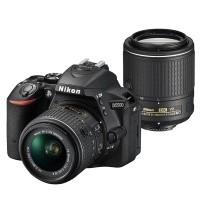 Nikon D5500 Czarny + obiektyw 18-55mm VR II + obiektyw 55-200mm VR II