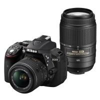 Nikon D5300 Czarny + obiektyw 18-55mm VR II + obiektyw 55-300mm VR - miniaturka produktu