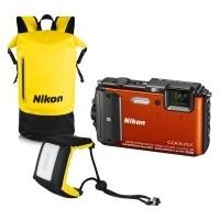 Zestaw Nikon Coolpix AW130 Pomarańczowy Diving Kit