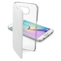 Etui Cellular Line CLEAR BOOK białe do Samsung Galaxy S6 Edge