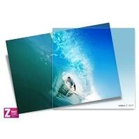 Filtr Cokin Z123F - połówkowy niebieski z miękkim przejściem koloru przez cały filtr z serii Z-PRO