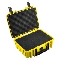 Walizka transportowa B&W outdoor.cases Typ 1000 SI z gąbką Żółta