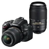 Nikon D5100 + obiektyw 18-55mm VR + obiektyw 55-300mm VR - miniaturka produktu