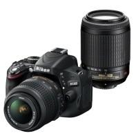 Nikon D5100 + obiektyw 18-55mm VR + obiektyw 55-200mm VR - miniaturka produktu