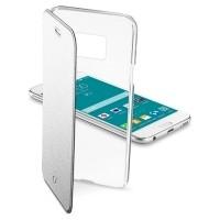 Etui Cellular Line CLEAR BOOK srebrne do Samsung Galaxy S6