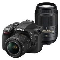 Nikon D3300 + obiektyw 18-55mm VR II + obiektyw 55-300mm VR - Cashback Nikon 200zł - miniaturka produktu