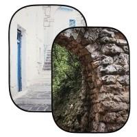 Tło składane Lastolite Perspective Collapsible 1.5 x 2.1 m Stone Arch / Grecian Steps - LL LB5741