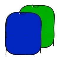 Tło składane chromakey niebieskie/ zielone 1,5 x 1,8m Lastolite LL LC5687