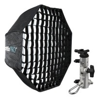 Parasolka - softbox octa 80cm Phottix Pro Easy Up HD + uchwyt Varos Pro S - WYSYŁKA W 24H