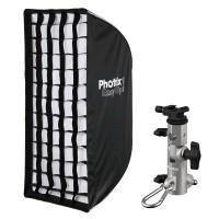 Parasolka - softbox 40x90cm Phottix Easy Up HD + uchwyt Varos Pro S