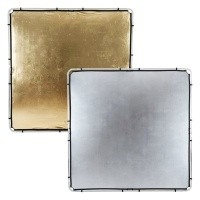 Ekran Gold/ Silver do systemu Lastolite Skylite 2 x 2 m LR82234R