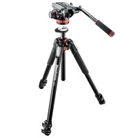Statyw video Manfrotto MT055XPRO3 z głowicą MVH502AH