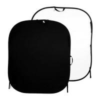 Tło składane Czarne/ Białe 1,5 x 1,8m Lastolite LL LB5621