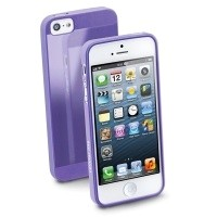 Elastyczne gumowe etui Cellular Line GUMMY SLIM do iPhone5 fioletowe