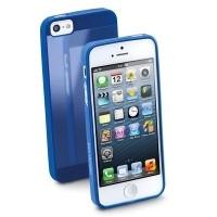Elastyczne gumowe etui Cellular Line GUMMY SLIM do iPhone5 granatowe