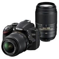 Nikon D3200 + obiektyw 18-55mm VR + obiektyw 55-300mm VR - miniaturka produktu