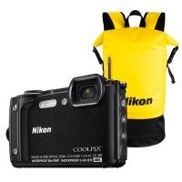 Aparat cyfrowy Nikon Coolpix W300 czarny + plecak wodoodporny Nikon