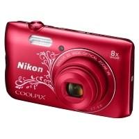 Aparat cyfrowy Nikon Coolpix A300 czerwony z ornamentem