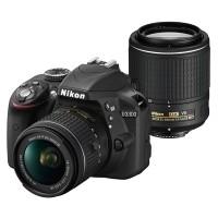 Nikon D3300 + obiektywy AF-P 18-55mm VR + AF-S 55-200mm VR II