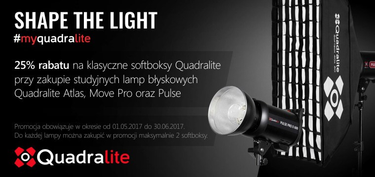 Promocja Quadralite - 25% rabat na softbox