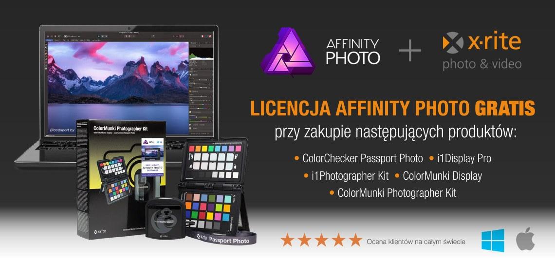 Promocja X-rite + Affinity Photo
