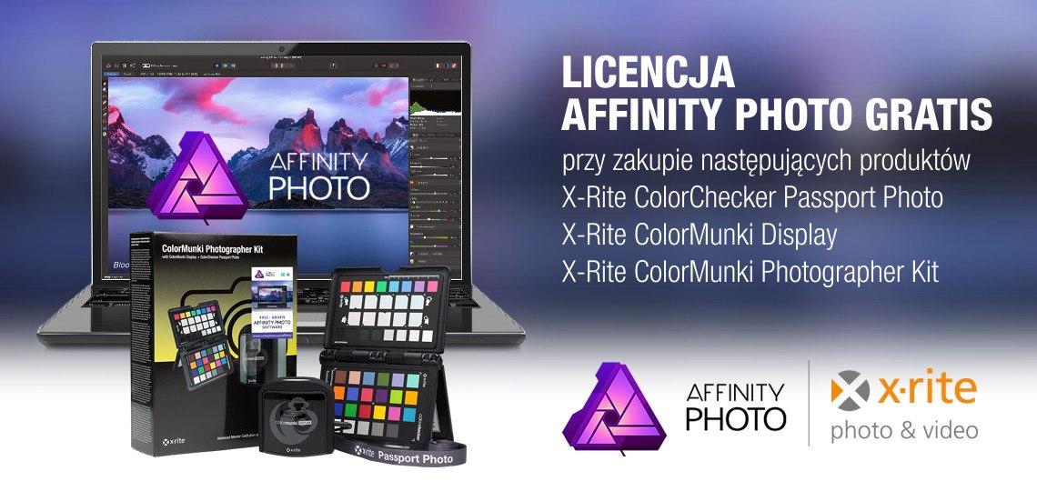 Promocja X-Rite - Gratis Licencja Affinity Photo