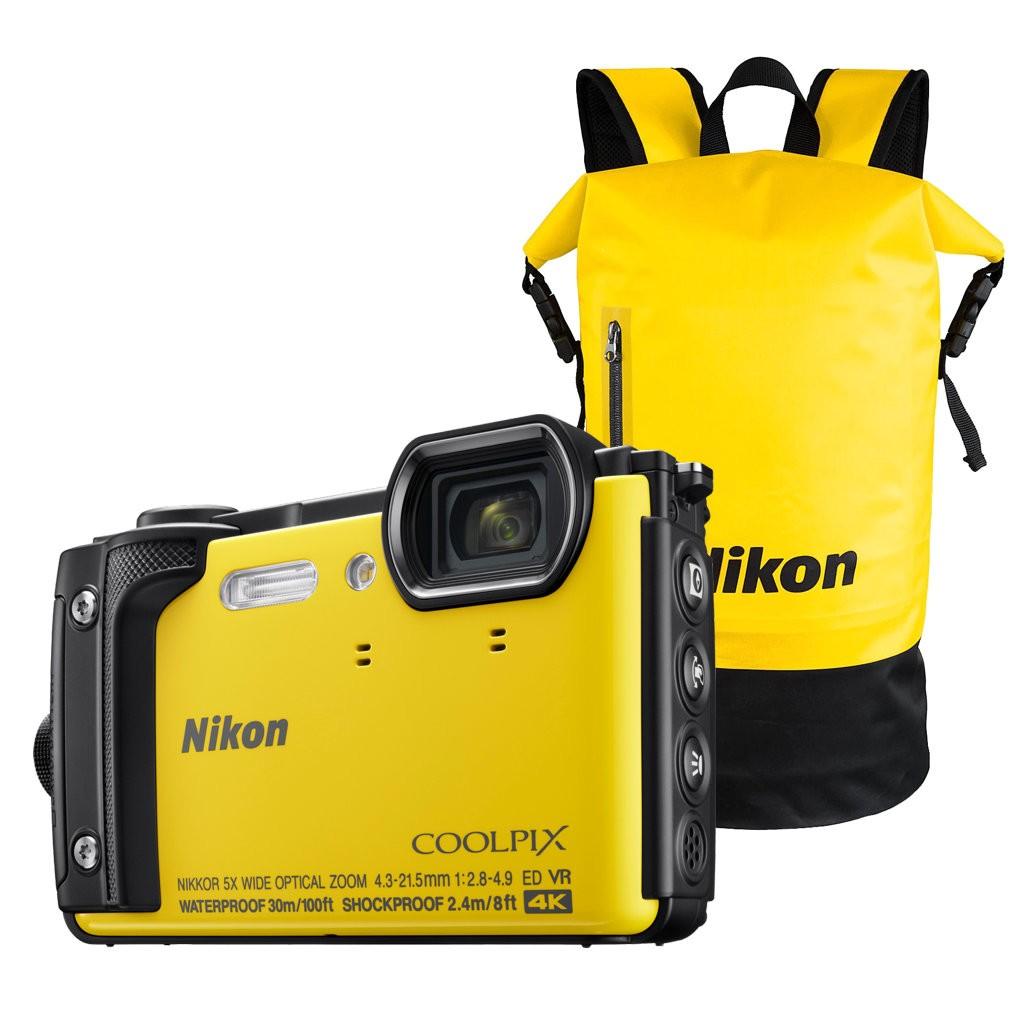 ec7f6a371fe2f Aparat cyfrowy Nikon Coolpix W300 żółty + plecak wodoodporny Nikon ...