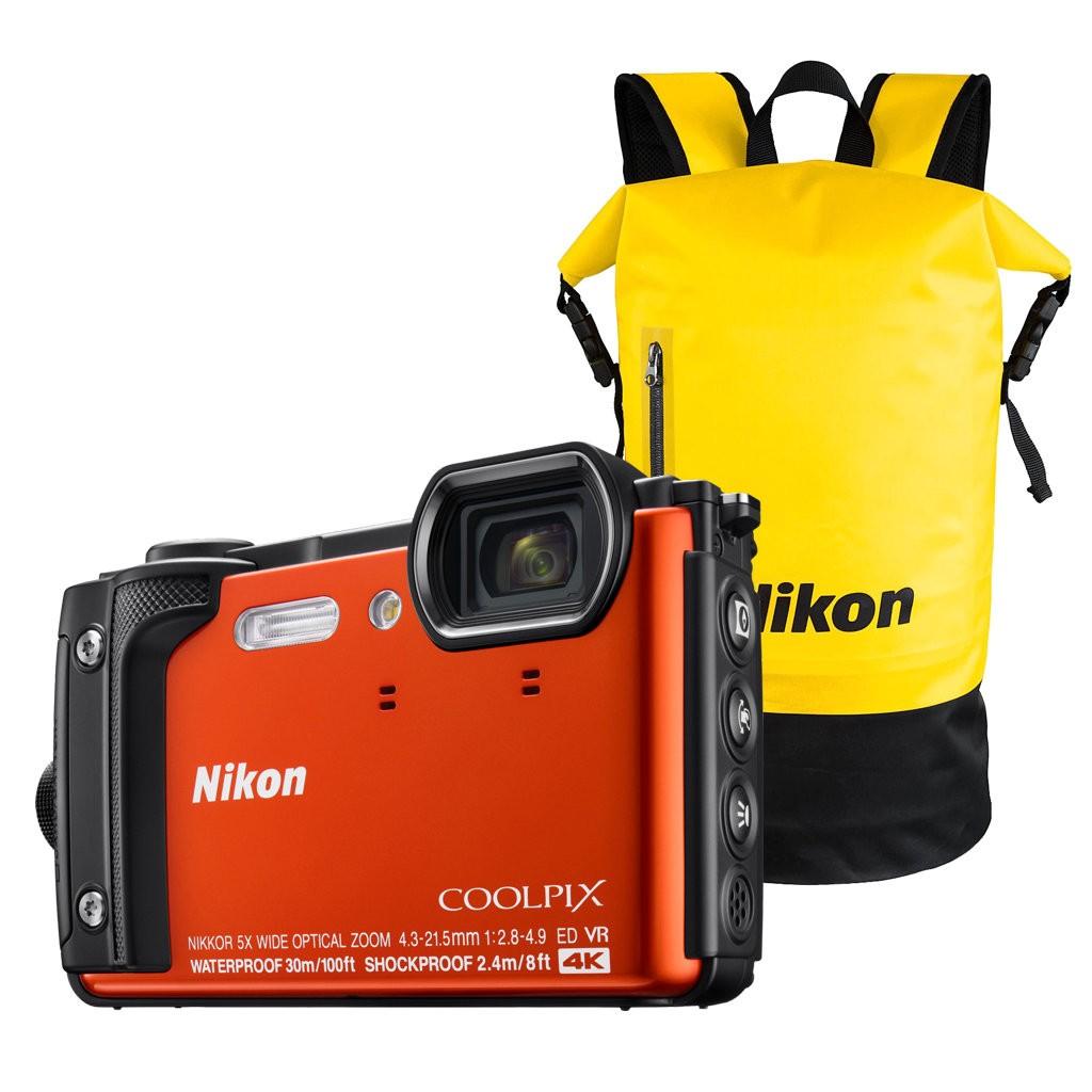 79a1be9e7c952 Aparat cyfrowy Nikon Coolpix W300 pomarańczowy + plecak wodoodporny Nikon
