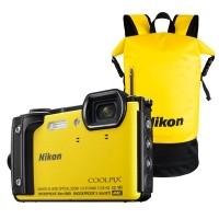 Aparat cyfrowy Nikon Coolpix W300 żółty + plecak wodoodporny Nikon