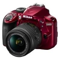 Nikon D3400 czerwony + obiektyw Nikkor AF-P 18-55mm VR