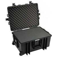 Walizka transportowa B&W outdoor.cases Typ 6800 SI z gąbką Czarna