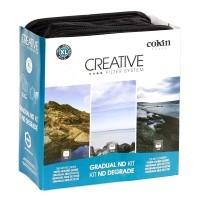 Zestaw filtrów połówkowych szarych Cokin W960A rozmiaru XL (uchwyt + X121L + X121M + X121)