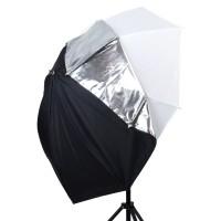 Parasolka fotograficzna Lastolite All In One 72cm srebrno biała LL LU3237F - WYSYŁKA W 24H