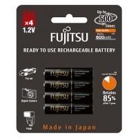 Akumulatorki Fujitsu BLACK R03/AAA 900mAh 4szt - WYSYŁKA W 24H