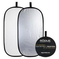 Blenda Rogue 2w1 srebrno-biała 50x100cm - WYSYŁKA W 24H